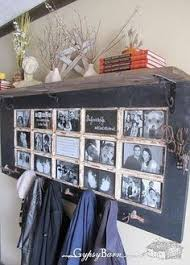 great idea using an old door with multiple window pane opeings