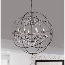 8 light globe pendant