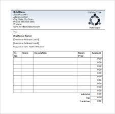 hotel bill guest house bill format in word indian hotel bill receipt