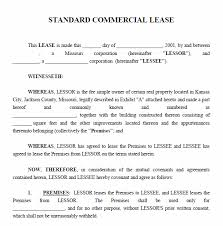Standard Commercial Lease Agreement Printable Sample Commercial Lease Agreement Form Real Estate Forms