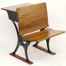 antique school desk chair combination stock photo 11350842