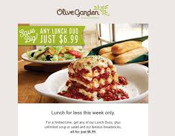olive garden lunch duo only 6 99