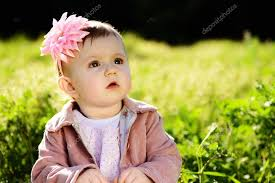 cute lovely baby stock photo