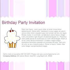 Birthday Invitation Card Free Developmentbox