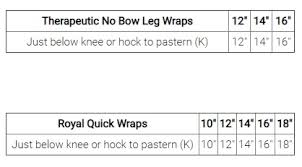 Back On Track No Bow Leg Wraps