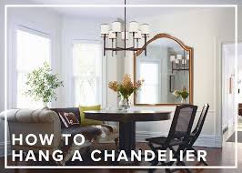 how to guide chandelier hanging