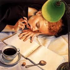 Resultado de imagen de pintura de mujer pensando