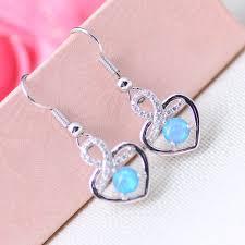 vova genuine guaranteed australian opal fire opal heart 925 sterling silver dangle earrings zeus s tears lucky nobility cupid son angel in love stone