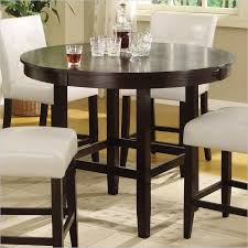 bossa 48 round counter height dining table in dark chocolate with regard to tall round kitchen