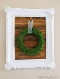 how to make a farmhouse framed sign for hanging wreaths a fun diy decor project