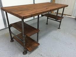 wooden desk ideas. rustic reclaimed barn wood computer desk table w 3 shelf system solid oak wooden ideas