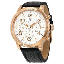 tommy hilfiger watches jomashop tommy hilfiger jake multi function white dial black leather men s watch