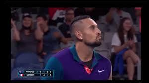 Australia's nick kyrgios reacts as he plays. Hy Akjph8mhfnm