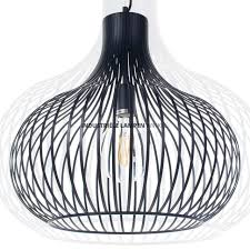 Grote Zwarte Draad Hanglamp Aglio Xl ø 60 Cm