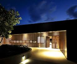 luxury home lighting. view in gallery wooden slats and brilliant lighting create a private entrance to the luxurious home luxury