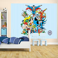 Marvel Comic Bedroom New 1 Wall Mural Marvel Dc Comics Batman Superman Iron Man Thor