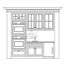 Design Of Kitchen Cabinets Kitchen Cabinet Design Drawing Kitchen Elevation Line Drawing