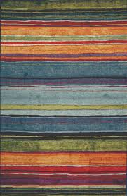 shining mohawk rainbow stripe rug designs