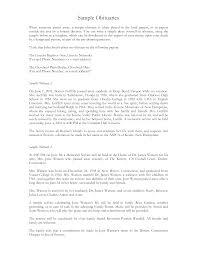 Free Obituary Sample | Templates At Allbusinesstemplates.com