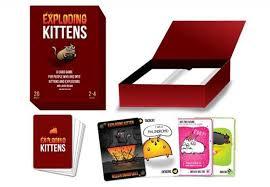 exploding kittens card game. Interesting Game To Exploding Kittens Card Game W