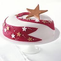 Shooting star Christmas cake