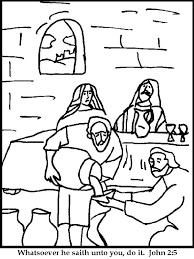 Small Picture Pleasant Design Jesus Turns Water Into Wine Coloring Page Miracles