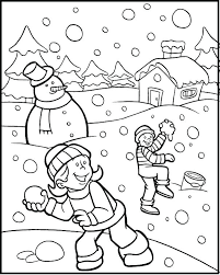 Winter Coloring Pages For Printable Printable Winter Coloring Pages