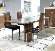 dining table walnut modern walnut look veneer extending dining table with a stainless steel base thumbnail dining table walnut
