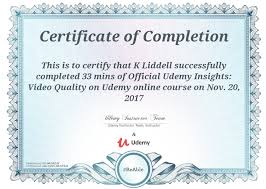 Certificate Of Completion Training Gorgeous Certificate Of Completion Udemy