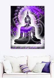 buddha print on metal purple buddha art