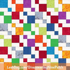 Disappearing Nine Patch Free Quilt Pattern Using Fat Quarters ... & Disappearing Nine Patch Free Quilt Pattern Adamdwight.com