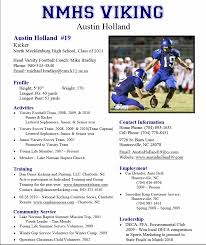 Athletic Resume Template Free Resume Templates For Student Athletes Therpgmovie 9