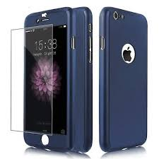 360 shockproof case cover tempered glass for iphone 5s blue full protection