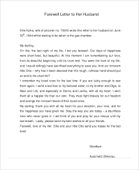 Farewell Love Letter to Husband