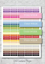 Week By Week Planner Printable This Week Planner Stickers This Week Planner This