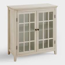 Antique White Double Door Storage Cabinet World Market