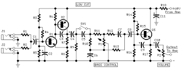 60w bass amplifier red page66 preamplifier circuit diagram