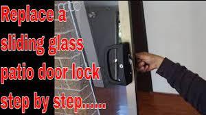 how to replace sliding patio door lock
