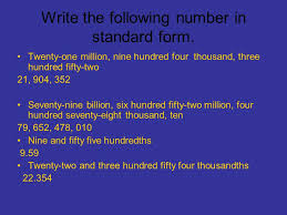 1 billion in standard form chapter 1 math jeopardy write the following number in standard form