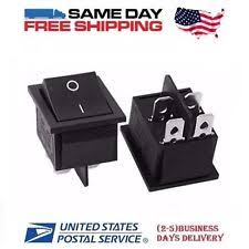 dpst rocker switch 2 x dpst double pole single throw 4 pin on off