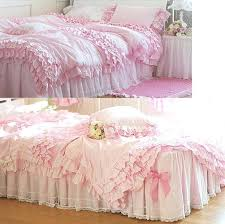 pink twin bedding set free pink ruffle princess cotton wedding set queen king size twin pink twin bedding