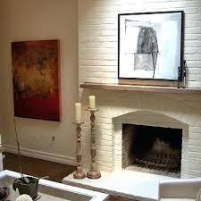 painting red brick fireplace white
