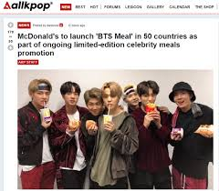 Mcdonald's mexico post about the bts meal. Mcdonald S Bts Meal To Hit 49 Countries From Late May Korea Net The Official Website Of The Republic Of Korea