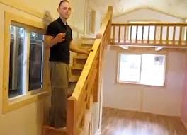 tiny house loft ladder. Tiny House With Big Staircase To Loft Ladder