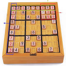 Wooden Sudoku Game Board Amazon Amyove Math Blocks Toy Wooden Sudoku Game Board 89