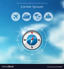Travel Brochure Cover Design Travel Brochure Cover Design With Compass Icon