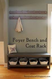 Diy Entryway Bench With Coat Rack Extraordinary A New Coat Rack And Bench For Our Foyer=Much Better DIY