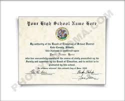 high school diploma name 1990s fake high school diploma printed with the designs you see here