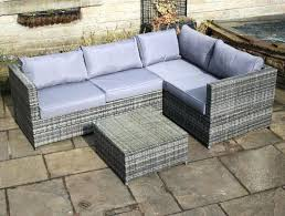 ratan outdoor furniture rattan outdoor 4 seat corner sofa patio garden sofa set patio cushioned corner