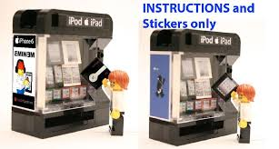 Lego Candy Vending Machine Amazing Custom Apple Vending Machine Instructions Stickers 48 LEGO Modular
